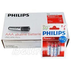 72 x bateria alkaliczna philips powerlife lr03/aaa, marki Panasonic