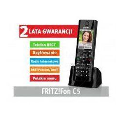 AVM FRITZ!Fon C5 DECT Słuchawka dla FRITZ!Box (Kolorowy wyświetlacz, HD Voice, słuchawki) - produkt z kateg