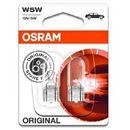 12 v lampy reflektorowe, oryginalne w5w, składane pudełko marki Osram