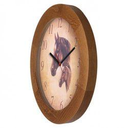 Atrix Zegar drewniany solid koniki