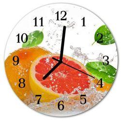 Zegar ścienny okrągły Grejpfrut