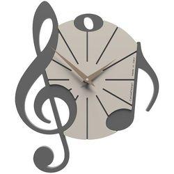 Zegar ścienny Vivaldi CalleaDesign szary, kolor szary