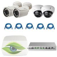 "Zestaw do Monitoringu ""Dahua 1.3MP"". 2 x Kamera IPC-HFW1120S-0360B, 2 x Kamera IPC-HDBW2100R-Z, Rejest"