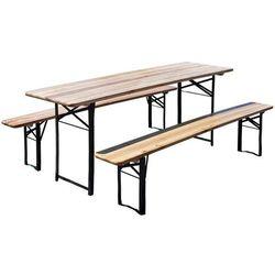 Home&garden Stół ogrodowy home&garden piwny z 2 ławkami (200 x 60 cm) + darmowy transport!