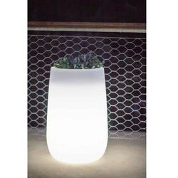 NEW GARDEN donica CAMELIA HIGH C biała - LED