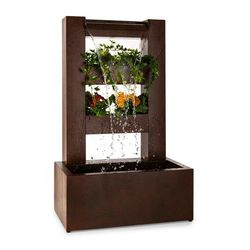 Blumfeldt Lemuria fontanna ogrodowa pojemniki na rośliny aranżacja wodna pompa 30W 10m kabelwodotrysk imitacja grynszpanu