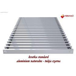 Kratka standard - 38/360 do grzejnika vk15, aluminium naturalne o profilu zamkniętym marki Verano