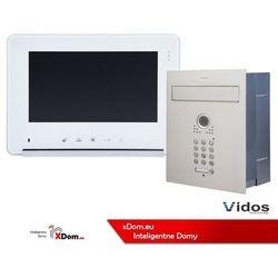 Zestaw jednorodzinny wideodomofonu VIDOS. Skrzynka na listy z wideodomofonem. Monitor 7'' S561D-SKP_M690W