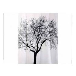 Zasłonka prysznicowa tekstylna 1,8x 2,0 m Tree czarna