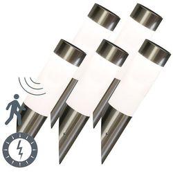 Zestaw 5 zewnętrznych lamp ściennych Rox stal