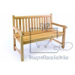 Divero Ławka ogrodowa 2-osobowa drewniana 120 cm