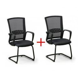 Krzesło konferencyjne Roy 1+1 Gratis, czarny