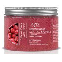 żurawinowa witalność rewitalizująca sól do kąpieli z żurawiną i trawą cytrynową (49393) marki Apis