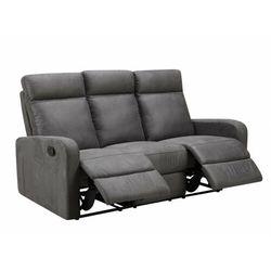 3-osobowa sofa CARLINA typu relaks z tkaniny – Kolor antracytowy