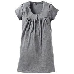 Koszula nocna ciążowa i do karmienia bonprix szary melanż - sprawdź w wybranym sklepie