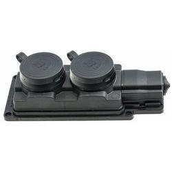 Przedłużacz gumowy 2-gniazda z/u 3m /h05rn-f 3g1,5/ czarny ip44 d.3159/2-3 marki Pawbol