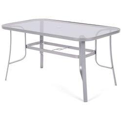 Home&garden Stół ze szklanym blatem toscana silver / grey (5902425322659)