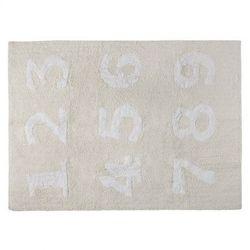 Dywan do Prania w Pralce Numeros Crema/Beige - produkt z kategorii- Dywany dla dzieci