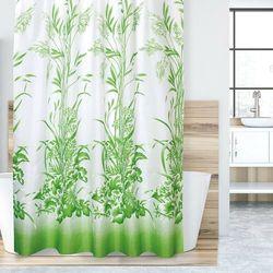 Zasłona prysznicowa Trawa zielony, 180 x 200 cm, 233043