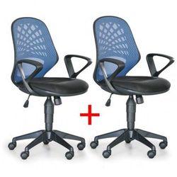 Krzesło biurowe Fler 1+1 Gratis, niebieski