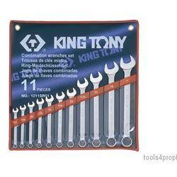 Zestaw kluczy płasko-oczkowych 11cz. calowe 1/4 - 1'' 1211sr01 marki King tony
