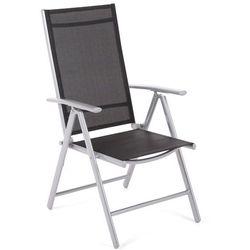 Krzesło ogrodowe aluminiowe Ibiza Basic Silver / Black (5902425322802)