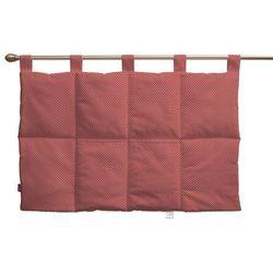 Dekoria  wezgłowie na szelkach, czerwona w kropeczki, 90 x 67 cm, ashley