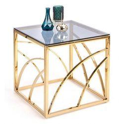 Szklany stolik kawowy cristal 3x - złoty marki Producent: elior