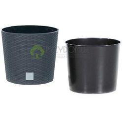 Donica z wkładem Rato Round DRTUS250L antracyt - produkt z kategorii- Doniczki i podstawki
