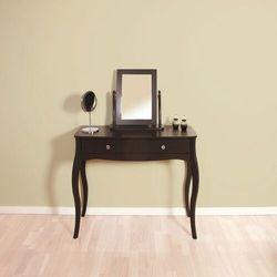 Toaletka z lustrem baroque czarny mat