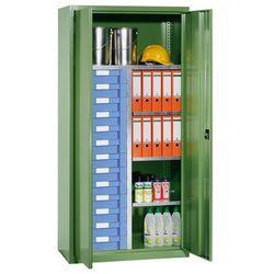 Eurokraft Szafa na materiały i szafa z szufladami,4 półki, 13 szuflad