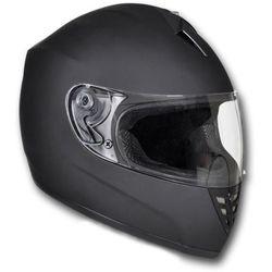 vidaXL Kask na motor, zamknięty, rozmiar L, czarny (kask motocyklowy)
