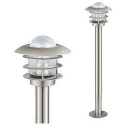 Zewnętrzna lampa stojąca mouna 30183  metalowa oprawa słupek do ogrodu ip44 outdoor stal przezroczysty, marki Eglo