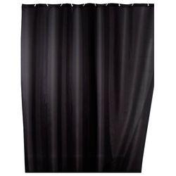 Zasłona prysznicowa, tekstylna, kolor czarny, 180x200 cm, WENKO, B008MVVY3Q