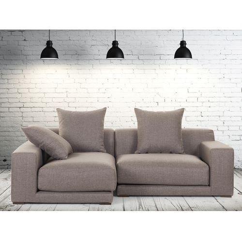 Sofa narozna P - tapicerowana - piaskowa - CLOUD (sofa)