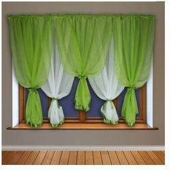 Kasandra Dagmara firanka gotowa 150x400 cm kolor zielony