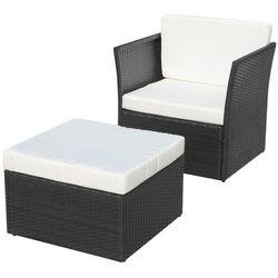 krzesło ogrodowe zestaw 5 elementów czarne marki Vidaxl