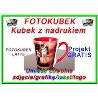 FOTOKUBEK ZE ZDJĘCIEM - Latte środek i uchwyt czerwoony