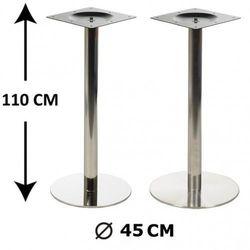 Od-podstawy Podstawa stolika wys. 110 cm, stal nierdzewna polerowana lub szczotkowana ( stelaż stolika) - e11