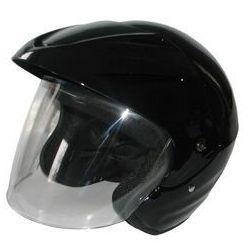 Kask motocyklowy MOTORQ Torq-o1 otwarty czarny połysk (rozmiar XS)