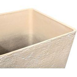 Doniczka beżowa kwadratowa 49 x 49 x 53 cm DELOS (4260586357004)