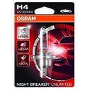 Osram h4 12v 60/55w p43t night breaker® unlimited (do +110% więcej światła, do 35m-40m dłuższy zasięg,do +20% bielsze światło) (4052899411012)