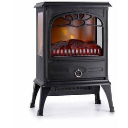 Klarstein leoben, kominek elektryczny, 900/1800 w, termostat, panoramiczny widok, czarny