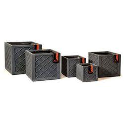 Donica ogrodowa szara L 35cm - oferta [d51a497a47451722]