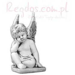 Figura ogrodowa betonowa zamyślony aniołek 31 cm
