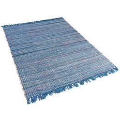Beliani Dywan niebieski bawełniany 160x230 cm besni (4260580937806)