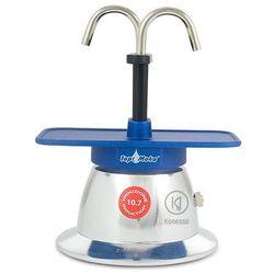 Kawiarka Top Moka Mini 2 filiżanki - srebrno niebieska indukcja