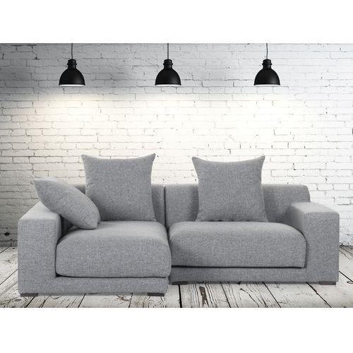 Sofa narozna P - tapicerowana - perlowoszara - CLOUD - produkt dostępny w Beliani