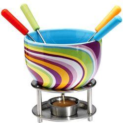 Zestaw do czekoladowego fondue  kolorowe paski marki Mastrad