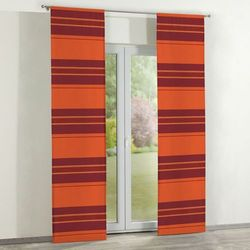 zasłony panelowe 2 szt., pomarańczowo-bordowy ze złotą nitką, 60 x 260 cm, taffeta do -30% marki Dekoria